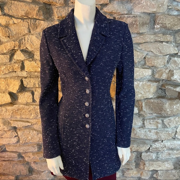 St. John Jackets & Blazers - ST.JOHN BROWN Navy Blue Jacket SIZE 6